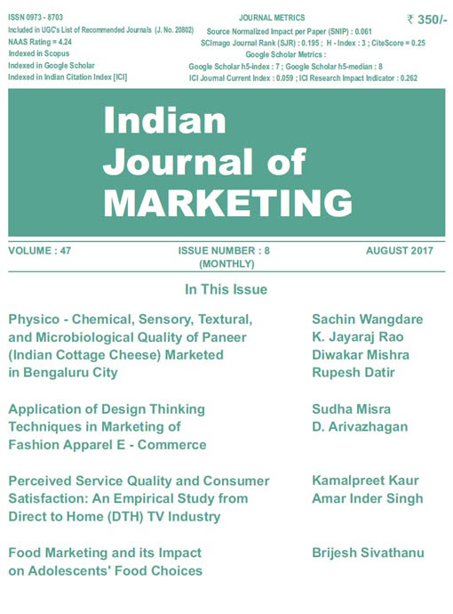 Indian Journal of Marketing August