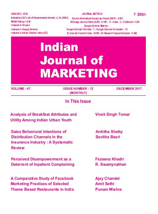 Indian Journal of Marketing October