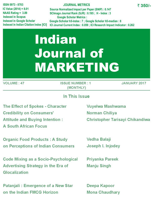Indian Journal of Marketing January